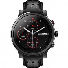 Ceas smartwatch Xiaomi Amazfit Stratos 2S, Sapphire, Leather Black