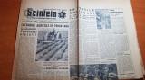 Scanteia 8 mai 1964-articol si foto barajul vidraru,uzina mecanica buzau,oradea