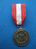 MEDALIA CA RASPLATA A MUNCII PENTRU INVATAMANT-ARGINTATA/1906