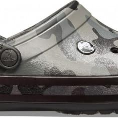 Saboți Adulti Unisex casual Crocs Crocband Seasonal Graphic Clog, Gri, 36.5, 37.5, 39.5, 41.5 - 43.5, 45.5, 46.5