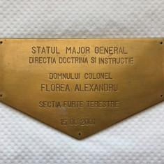 PLACHETA STATUL MAJOR GENERAL