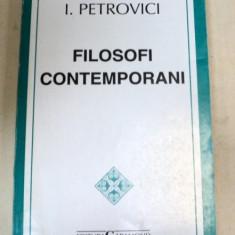 FILOSOFI CONTEMPORANI-I. PETROVICI