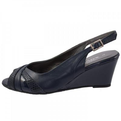 Sandale dama, din piele naturala, marca Zodiaco, RBA059-42-77, bleumarin 37 foto