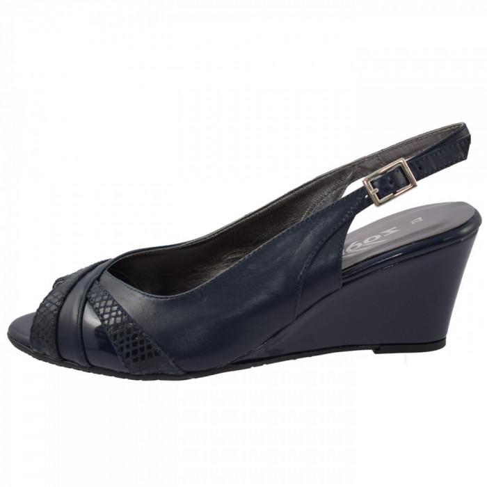 Sandale dama, din piele naturala, marca Zodiaco, RBA059-42-77, bleumarin 37