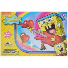 Puzzle 100 piese SpongeBob - Concert subacvatic