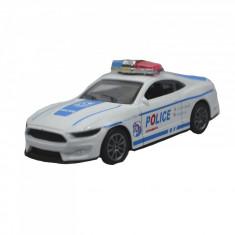 Jucarie masinuta de politie Toys MKL330215, Alb