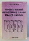REPREZENTANTI DE SEAMA AI ISTORIOGRAFIEI SI FILOLOGIEI ROMANESTI SI MONDIALE de VICTOR SPINEI , 1996 , PREZINTA HALOURI DE APA*