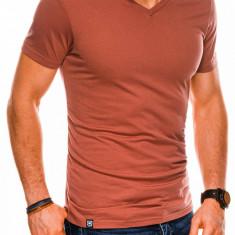 Tricou slim fit barbati S1041 - portocaliu