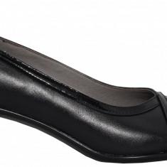 Pantofi dama din piele cu toc jos Ninna Art 113