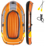 Barca gonflabila pentru 3 persoane cu vasle + pompa, Bestway, Kondor 3000