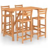 VidaXL Set mobilier bar de exterior, 5 piese, lemn masiv de acacia