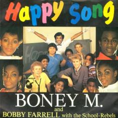 "Boney M. & Bobby Farrell – Happy Song (1984, Hansa) Disc vinil single 7"""