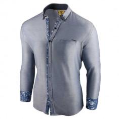 Camasa pentru barbati, slim fit, albastru deschis, casual, cu guler - sedna brighton
