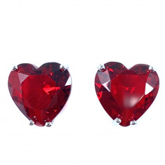 Cercei Borealy Sapphire Heart Red