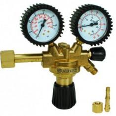 Reductor de presiune argon - Ar/Co2 cu doua ceasuri si robinet suplimentar pt inchidere -Alfared MAXI