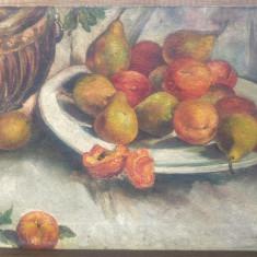 Natura statica cu fructe// ulei pe panza