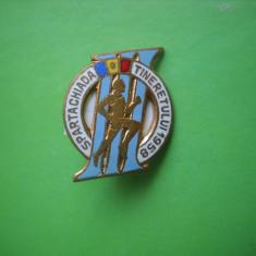 HOPCT  INSIGNA VECHE SPORTIVA SPARTACHIADA TINERETULUI 1958  [ 7  ]
