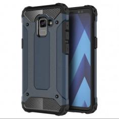 Husa Samsung Galaxy A8 Plus 2018 Iberry Armor Hybrid Navy, Carcasa