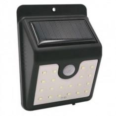 Proiector cu panou solar, cu senzor de miscare Strend Pro SL6250, 20 leduri, 100 lm
