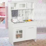 Bucătărie pentru copii echipată, Alb