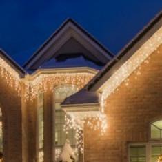 Ghirlande Luminoase Exterior/Interior: Instalatii Perdea Sarbatori Turturi, 6 m Lungime