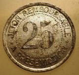 1.915 JETON FRANTA 25 CENTIMES SYNDICAT DE L´ALIMENTATION EN GROS DE L´HERAULT
