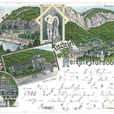1528 - HERCULANE, Litho, Romania - old postcard - used - 1896, Circulata, Printata