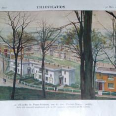 carte veche 1929 arhitectura L illustration numar special format f.mare