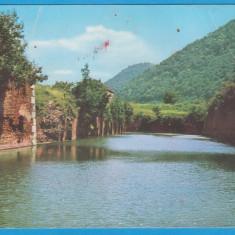 (28) CARTE POSTALA ROMANIA - DUNAREA LA ADA-KALEH, CIRCULATA, PERIOADA RSR