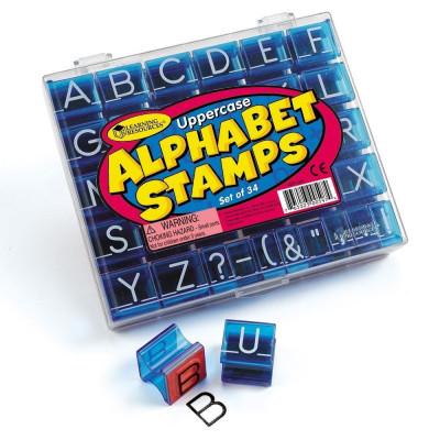 Set stampile Alfabet - litere de tipar foto