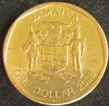 Moneda exotica 1 DOLAR / DOLLAR - JAMAICA, anul 2008 *cod 576, America de Nord