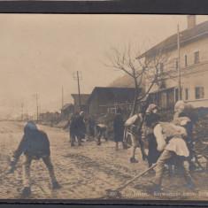 Carte Postala Romania WW1 - Rezidentii curata strazile
