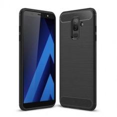 Husa Samsung Galaxy A6 Plus 2018Iberry Carbon Negru