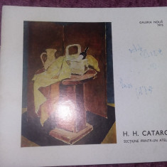 Album/Brosura H.H.CATARGI,Galerie Noua 1975 Pictura,Dedicatie AUTOGRAF,T.GRATUIT