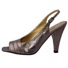 Pantofi dama, din piele naturala, marca Endican, B534-12, auriu