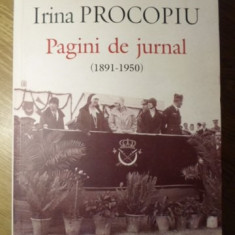 PAGINI DE JURNAL (1891-1950) - IRINA PROCOPIU