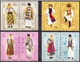 ROMANIA 1985 Costume populare Romanesti - serie 8 val.(4 perechi) LP.1138 MNH**