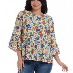 Bluza dama, cu imprimeu floral