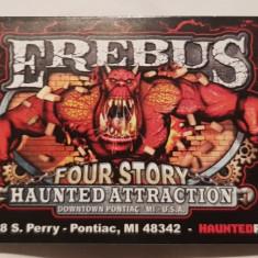Pentru colectionari, bilete de intrare casa de Halloween Erebus, Detroit