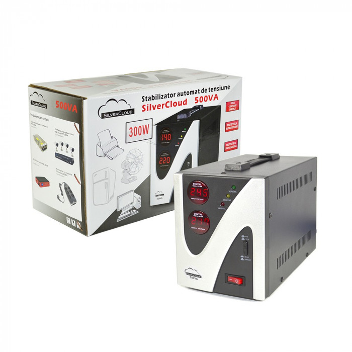 Resigilat : Stabilizator de tensiune SilverCloud 500VA 300W
