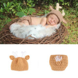 Costum bebelusi crosetat model Ren/ Unicorn sedinte foto,botez