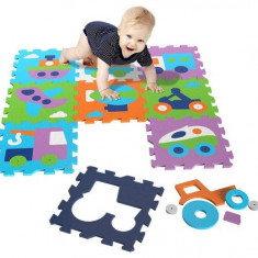 Covor puzzle din spuma Vehicles 9 piese, Knorrtoys
