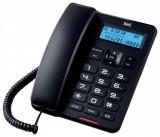 Telefon cu fir de masa cu afisaj negru CD001 Well; Cod EAN: 5948636035162