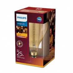 Bec LED Philips 5W (25W) classic-giant E27 A160 GOLD ND, 2000K, 300 lumeni, 220-240V