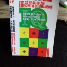 CUM SA NE CALCULAM COEFICIENTUL DE INTELIGENTA - HORST H. SIEWERT