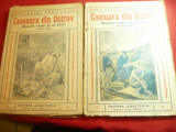 Jules Verne- Comoara din Ostrov- vol.1 si2 -Ed.Cugetarea ,trad.Ion Pas ,interbel