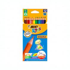 Creioane colorate 12 culori Bic Evolution 60963
