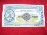 Bancnota Militara Marea Britanie anii '50 5 Lire sterline , cal. NC