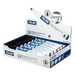 Cumpara ieftin Set 12 Markere MILAN Negre Pentru Tabla Magnetica, Marker, Marker Negru, Markere Negre, Marker cu Cerneala Neagra, Marker Nepermanent Tabla, Markere N