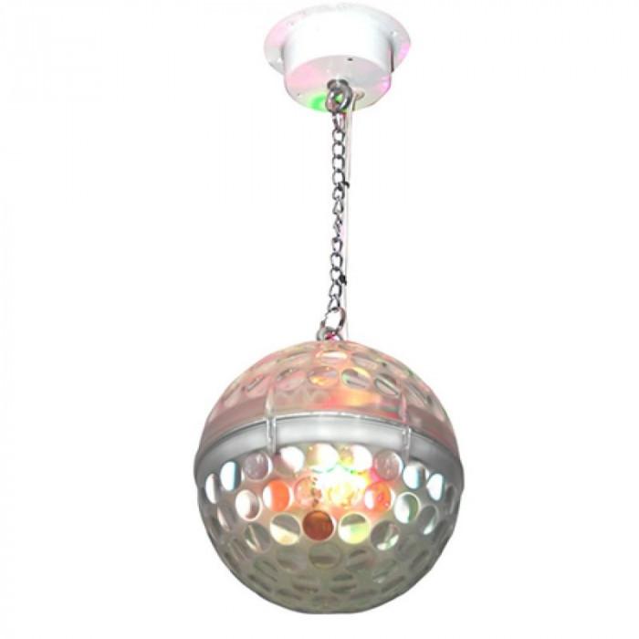 Glob disco Astro, 20 cm, fatete reflectorizante, 10 led-uri RGBWA